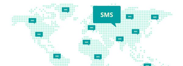 Acercarse con la terminación de SMS